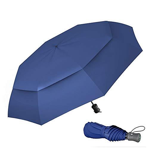 Paraguas Plegable Automático De Viaje Procella – 100% Impermeable Antiviento Compacto Apertura Y Cierre Automático Ligero Resistente Protege De Lluvia Viento – Ideal para Viajar Color Azul Marino