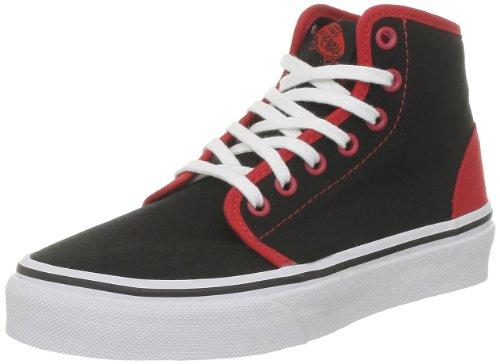 Vans K 106Hi, Baskets Mode Jungen, Schwarz Noir (Pop Black/Red)