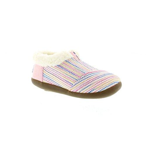 kids-tiny-house-slipper-pink-black-metallic-woven