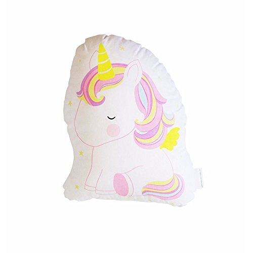 A Little Lovely Company - Kissen/Kinderkissen - Unicorn/Einhorn - 100% Baumwolle