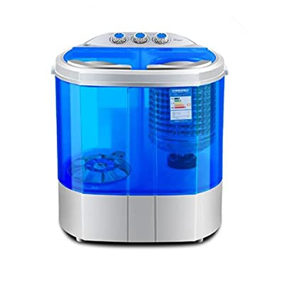 FOBUY Mini Twin Tub Washing Machine (3.6KG Washing + 2KG Drying) Portable Washer Spin Dryer Compact 120W from AUX