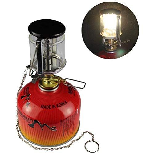 Mini tragbare Camping-Lampe Outdoor Camping Kleine Gaslampe Camping Heizung Zelt Licht Taschenlampe Kronleuchter Schwarz