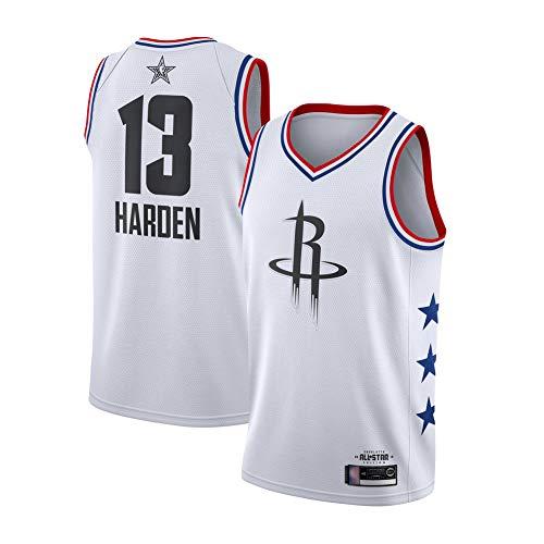 KKSY Basketball Trikot Rockets # 13 James Harden 2019 All-Star Edition Vintage Fitness-Tanktop für Erwachsene,White,XXL