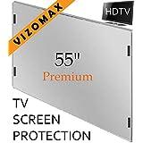 55 pouces Vizomax Protecteur d'écran pour Télévision TV LCD, LED, Plasma HDTV Screen Protector Cover Guard Shield