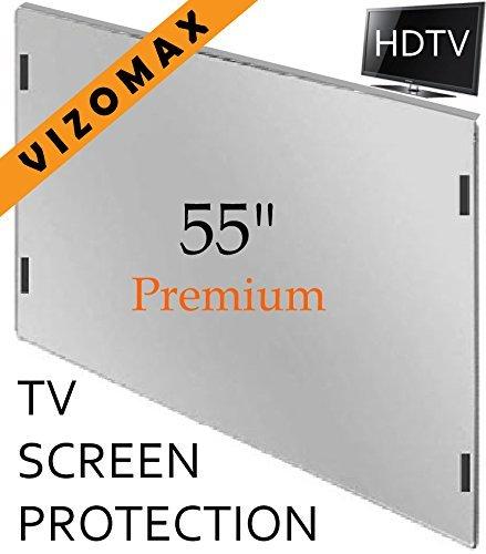 55-Zoll-Vizomax TV-Bildschirm-Schutz für LCD, LED und Plasma-HDTV. UV-Schutz, Fernseher-Displayschutz Protector High-definition-plasma-display