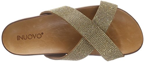 Inuovo 6127, Sandales Femme Marron - Braun (COCONUT-CAMEL STRASS)