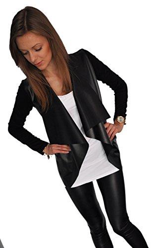 damen-elegant-lederimitat-strickjacke-blazer-cardigan-streetwear-sexy-look-s-m-l-xl-192-s