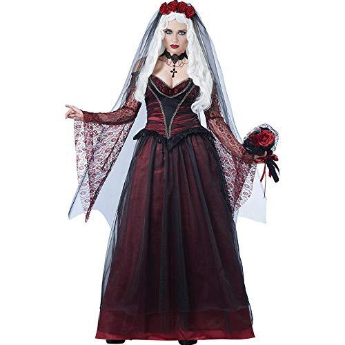 Halloween Frau Zombie Vampir Braut Queen Dress Cosplay Kostüm Einheitliche, Farbe, - Fehler Code Kostüm