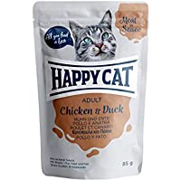 Happy Cat Pouches - Meat in Sauce - 24 x 85 gr. = 1 VE Pouch Adult Huhn & Ente