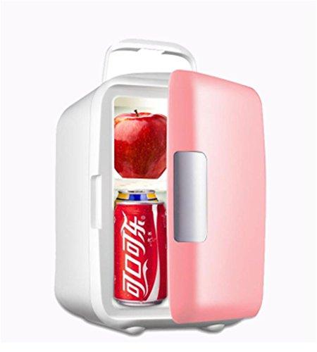 MNII 4L Car Home Mini Mini Kühlschrank Kleine Home Kühlung Auto Kühlschrank Kühler Größe 22 * 17,5 * 22cm Leistung 45W , 4l muted pink (for car use)-Gehen Sie auf eine Reise (Gehen Obst)