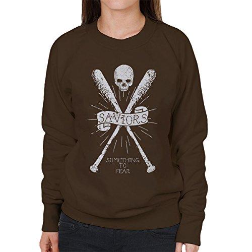 Walking Dead Saviors Crest Women's Sweatshirt Chocolat