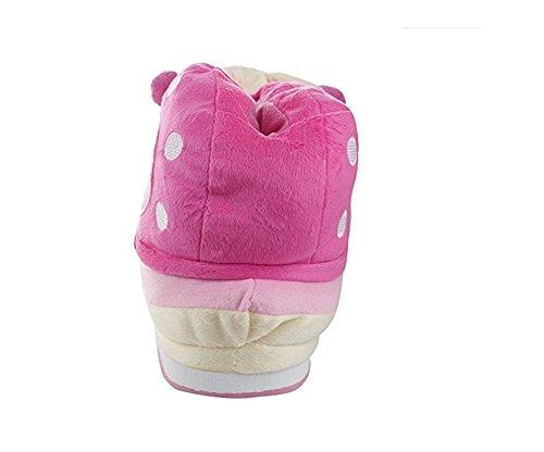 YARBAR Escargot mignon Chaussons Automne et Hiver en coton épais Chaussons anti-dérapant Accueil Voyage Chaussures Chaussons Rose