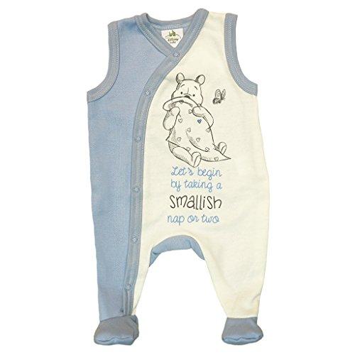 Kleines Kleid Winnie The Pooh gefütterter Strampler mit Füßchen Größe 68, Farbe Blau (The Winnie Pooh Kleider)