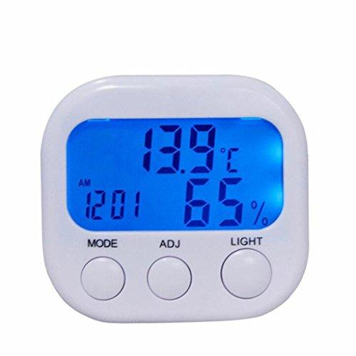Minielektronisches Hygrometer, leuchtender Thermometer, LCD-Digitalanzeige-Hygrometer mit Blauer Hintergrundbeleuchtung Flache Lcd-thermometer