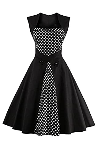Robe Noir Vintage - Babyonlinedress Robe de Soirée/Bal Courte Rétro Vintage
