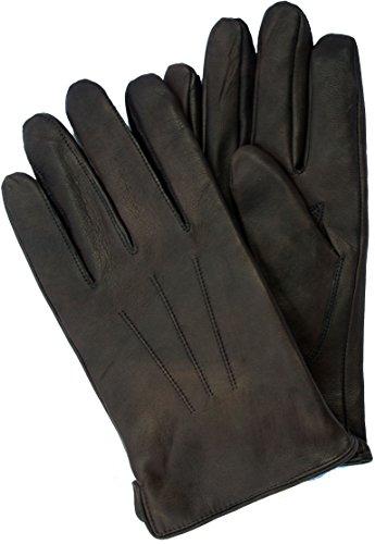 klassischer Lederhandschuh BEN für Herren von EEM aus echtem Leder gefüttert warm, schwarz, Größe M