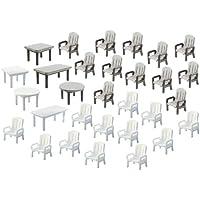 Faller F180439 - Modélisme - Chaises + Tables de Jardin