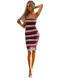 Beikoard Vestito Donna Elegante abbigliamento Vestito donna Maxi abito da  sera per donna senza maniche o con… d9540a6cef6