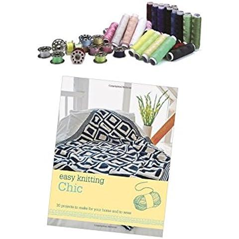 Speciale Oggi Set da cucito poliestere Fili e rocchetti portatile Accessori per cucire con bonus Easy Chic - Handy Macchina Da Cucire