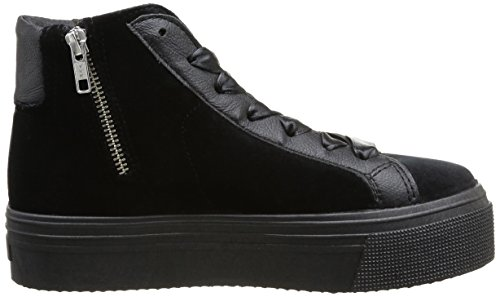 No Box  Bristol,  Sneaker donna Nero (Noir (Velours Black))