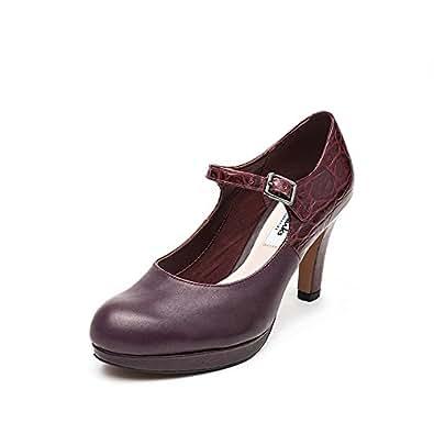 Clarks Angie Kendra, Damen Pumps, Rot (Ox Blood Leather), 42 EU (8 Damen UK)