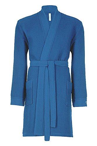 Taubert Spa Thalasso Short Kimono kurzer Bademantel 100 cm Pique S Jeans - Denim-kimono
