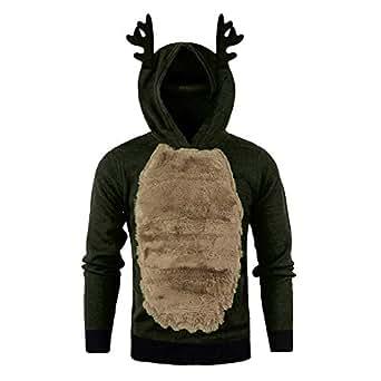 Geili Hoodie Herren Herbst Winter Warm Fleece Gefüttert