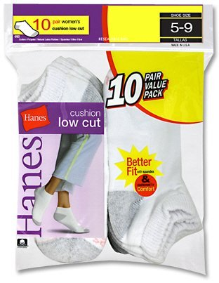 Hanes Cushioned Women`s Low-Cut Athletic Socks - Best-Seller!
