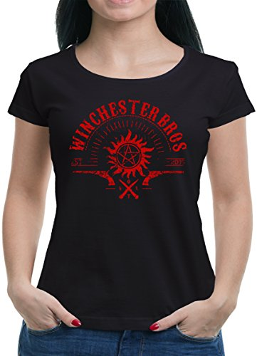 TLM Winchester V.O.L.T. T-Shirt Damen L Schwarz (Geil O Halloween Kostüm)