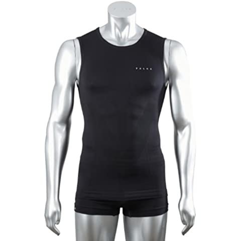 FALKE, Canotta da corsa Running Athletic Uomo, Nero (black), L