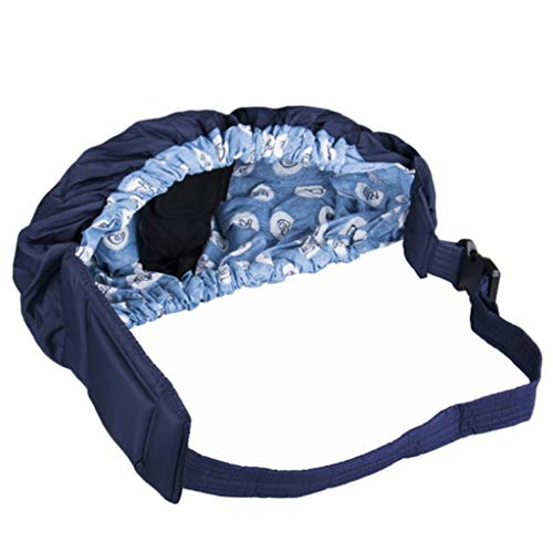 TangMengYun Acogedor Sling de bebé Portabebé Wrap Swaddling Kids Nursing Pouch Front Carry para recién Nacido Bebé Un Hombro (Color : Blue)