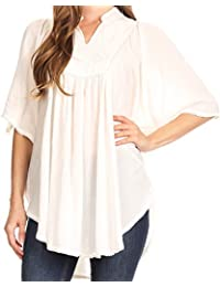 Sakkas Martina Delicate Embroidered Tie Dye Poncho Top/Cover up