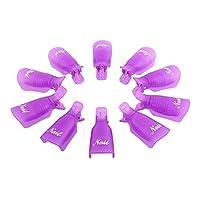 JJOnlineStore - 10x Gel Nail Polish Remover, Nail Gel Soak Off Kits Accessories for Salon Home DIY, Purple