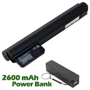 Battpit Batterie d'ordinateur Portable de Remplacement pour HP 590544-001 (4400 mah) avec 2600mAh de banque de puissance / batterie externe (Noir)