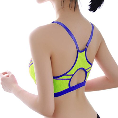 BZLine® Coton Bra / Soutien-gorge de Sport - Yoga - Taille unique - Femme P