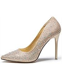 HIGHXE Los Tacones Altos Europa y los Estados Unidos de Diamante Zapatos de  tacón Alto Atractivo 7fa0288414c5