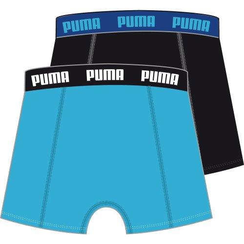 Puma Herren Boxershorts Basic 2er Pack, 521015001 028_aquarius / black