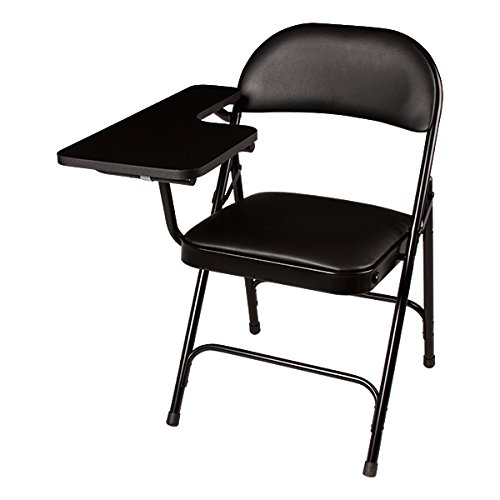 School Outfitters NOR-SRO593-TA-VBK-SO Norwood Commercial Furniture 6600 Series Vinyl Padded Folding Chair with Tablet Arm (Pack of 2) (Arm Chair Folding)