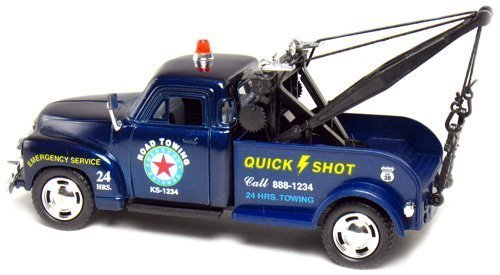 Kinsmart 1953 BLUE Chevy 3100 Tow Truck 1:38 Scale by Chevy