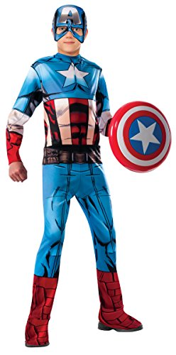 Kostüm America Alle Captain - Avengers Rubie´s,, Kinderkostüm von Captain America, Modell: Classic Kinder Modern L ( 8-10 años) blau