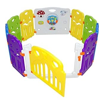 8 Panels Portable Foldable Folding Kids Baby Indoor Outdoor Safety ...