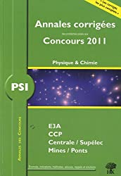 PSI physique chimie 2011 : Annales des concours