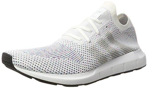 adidas Swift Run Primeknit, Scarpe da Ginnastica Basse Unisex-Adulto, Bianco (Footwear off White/Core Black), 47 1/3 EU