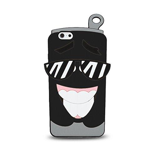 BACK CASE 3D TASSE / CUP für Apple iPhone 6 / 6S Hülle Cover Case Schutzhülle Tasche Silikonhülle Etui (schwarz) schwarz