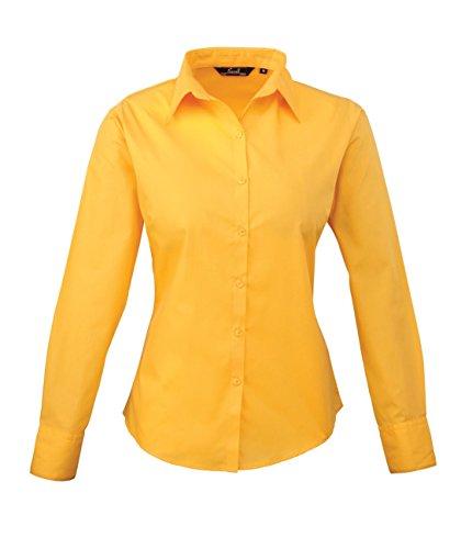 PW300 Ladies Poplin Long Sleeve Shirt (Damenbluse/Langarm) Sunflower