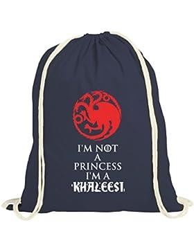 Serien natur Turnbeutel mit I'm Not A Princess I'm A Khaleesi Motiv von ShirtStreet