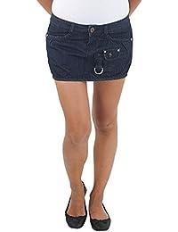 Damen Jeans Rock Minirock Mini Jeansrock Sommerrock Jeansmini Hüftrock  Stretch Blau cd719390fb