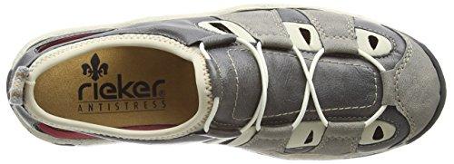 Rieker L0261 Women Low-top, Baskets Basses femme Gris - Grau (staub/dust/beige / 42)
