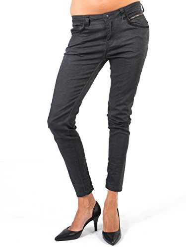 BIANCO JEANS Damen Hose Samantha - lockere Boyfriend Jeans in Grau -38 (Distressed Jeans Lücke)