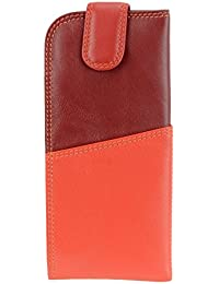 Visconti Visconti RB106 Soft Leather Eye Glasses Pouch / Sunglasses Case Holder (Red)